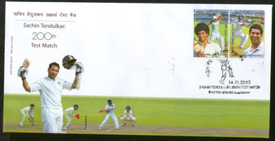 India 2013 Sachin Tendulkar Cricket Player Sports 2v FDC