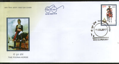 India 2017 The Poona Horse Regiment Military Costume FDC - Phil India Stamps