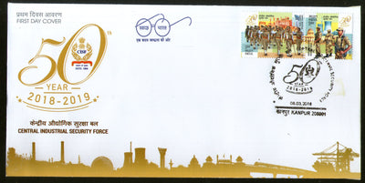 India 2018 Central Industrial Security Force Military Police 2v Setenant FDC - Phil India Stamps