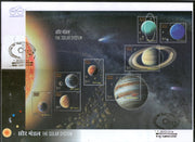 India 2018 The Solar System Space Science Mars Mercury Jupiter Venus Moon M/s on FDC