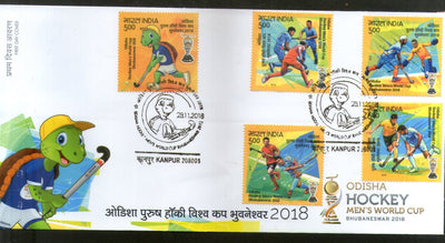 India 2018 Odisha Men's Hockey World Cup Turtle Sports Sikhism 5v FDC