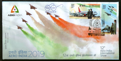 India 2019 Aero India Women in Aviation Aeroplane Transport 2v FDC