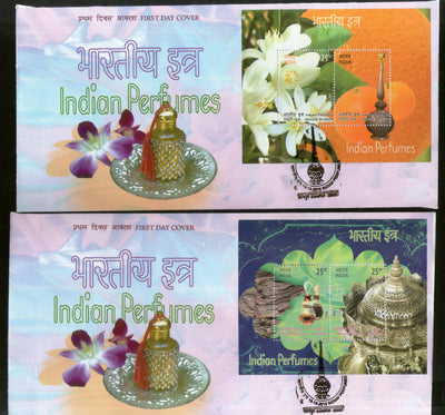 India 2019 Indian Perfumes Agarwood Orange Blossom Flower Fragrance Stamps M/s FDCs