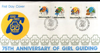 Singapore 1985 Girl Guiding Scout Sc 473-76 FDC # F176