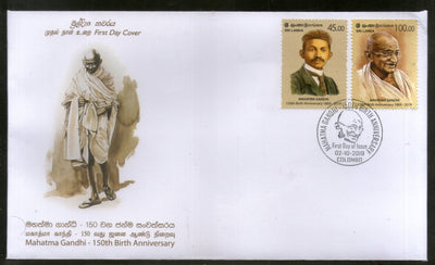 Sri Lanka 2019 Mahatma Gandhi of India 150th Birth Anniversary 2v FDC # 179