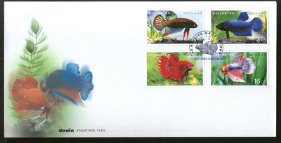 Thailand 2002 Fighting Fishes Marine Life Sc 2018-21 FDC # F185