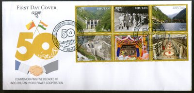 Bhutan 2019 Indo Bhutan Hydro Power Co-operation Energy Flag Dam FDC # F188