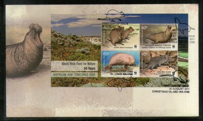 Australia 2011 WWF Mammals Wildlife Animals Joints Issue Sc 3561-64 M/s FDC # 233