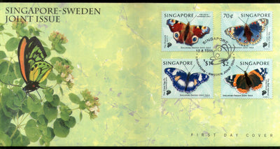 Singapore 1999 Butterflies Moth Insect Wildlife Fauna Sc 903-6 FDC # F254