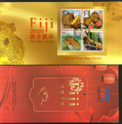 Fiji 2020 Chinese New Year of the Rat Festival 4v FDC # 93