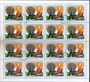 Comoros Rep. 1991 Mahatma Gandhi of India With Spinning Wheel 1v Cancelled Full Sheet of 16 Stamps # 107