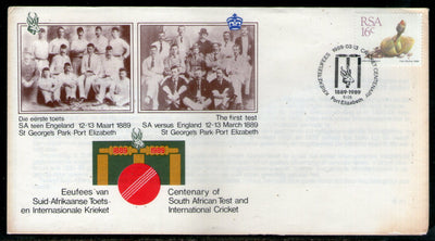 South Africa 1989 Centenary of SA Test & International Cricket Special Cover # 656