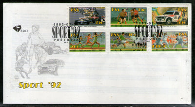 South Africa 1992 Cricket Sports 6v FDC # 657