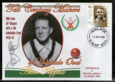 Australia 2001 Cricket Test Century Makers of Adelaide Oval – Alan Kippax Special Cover # 666