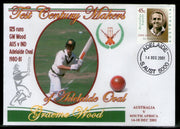 Australia 2001 Cricket Test Century Makers of Adelaide Oval – Graeme Wood Special Cover # 667