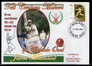Australia 2001 Cricket Test Century Makers of Adelaide Oval – Javed Miandad of Pakistan Special Cover # 672