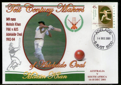 Australia 2001 Cricket Test Century Makers of Adelaide Oval – Mohsin Khan of Pakistan Special Cover # 673