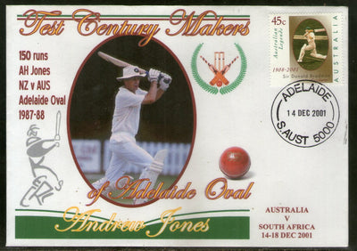 Australia 2001 Cricket Test Century Makers of Adelaide Oval – Andrew Jones Special Cover # 677