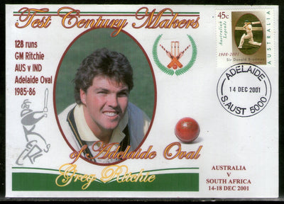 Australia 2001 Cricket Test Century Makers of Adelaide Oval – Greg Ritchie Special Cover # 678