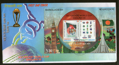 Bangladesh 1999 ICC Cricket World cup, England M/s on FDC # 725