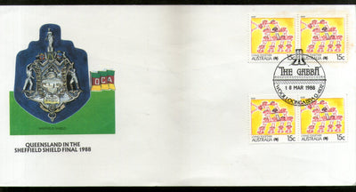 Australia 1988 Cricket Queensland in Sheffield Shield Final Sport Special Cover # 744