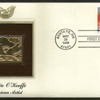 USA 1996 Painting by Georgia O'Keeffe Art Flower Gold Replicas Cover Sc 3069 # 173 - Phil India Stamps