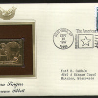 USA 1997 Music Series Opera Singer Lawrence Tibbett Gold Replicas Cover Sc 3156 # 181 - Phil India Stamps