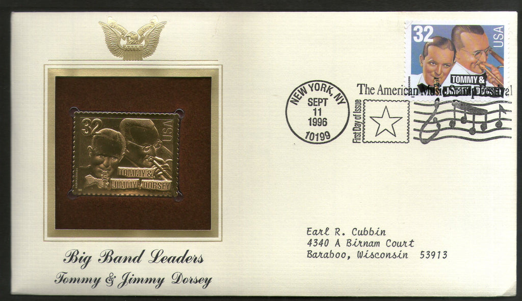 USA 1996 Music Series Big Band Tommy & Jimmy Dorsey Film Cinema Movie Gold Replicas Cover Sc 3097 # 182