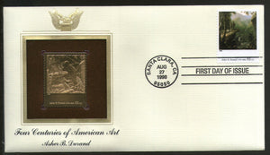 USA 1998 Painting by Asher B. Durand Art Gold Replicas Cover Sc 3236g # 198 - Phil India Stamps