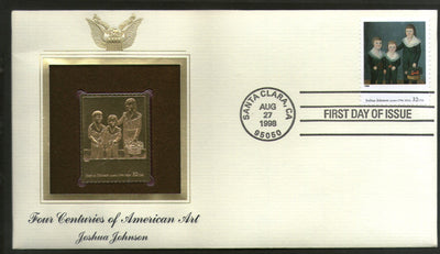 USA 1998 Painting by Joshua Johnson Art Gold Replicas Cover Sc 3236h # 204