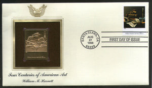 USA 1998 Painting by William Harnett Art Gold Replicas Cover Sc 3236i # 221 - Phil India Stamps