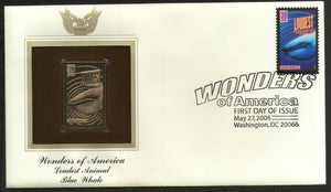 USA 2006 Blue Whale Loudest Animal Wonders of America Gold Replicas Cover # 259 - Phil India Stamps