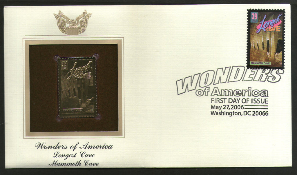 USA 2006 White Sturgeon Largest Fish Wonder of America Gold Replicas Cover # 267 - Phil India Stamps