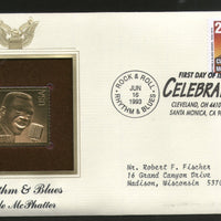 USA 1993 American Rock & Roll Music Clyde McPhatter Gold Replica Cover Sc 2726 # 026 - Phil India Stamps