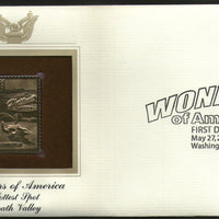 USA 2006 Death Valley hottest spot Wonders of America Gold Replicas Cover # 277 - Phil India Stamps