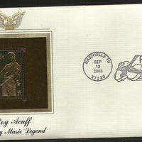 USA 2003 Roy Acuff County Music Artist Legend Gold Replicas Cover Sc 3812 # 290 - Phil India Stamps