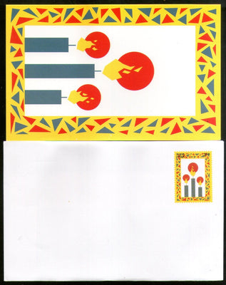 India 2000 300p Happy Diwali 0015S00/CSP Greeting Card MINT Cat. No. PIGE-13 # 13 - Phil India Stamps