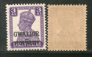 India Gwalior State 3As KG VI Postage Stamp SG 124 / Sc 106 Cat $20 MNH - Phil India Stamps