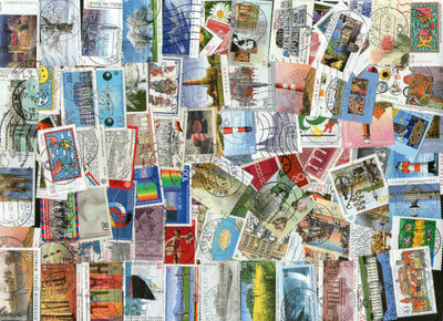 Germany 100 Different Used Stamps on Flower Flora Animal Lighthouse Painting - Phil India Stamps