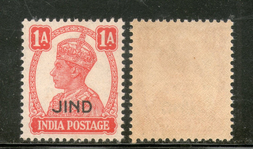 India Jind State KG VI 1An Postage Stamp SG 140 / Sc 168 MNH - Phil India Stamps