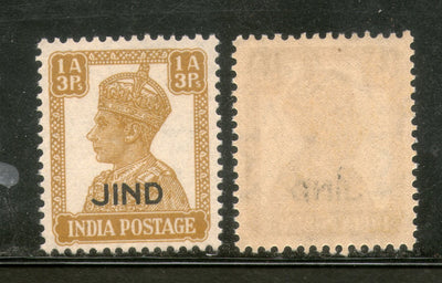 India Jind State KG VI 1An3ps Postage Stamp SG 141 / Sc 169 MNH - Phil India Stamps