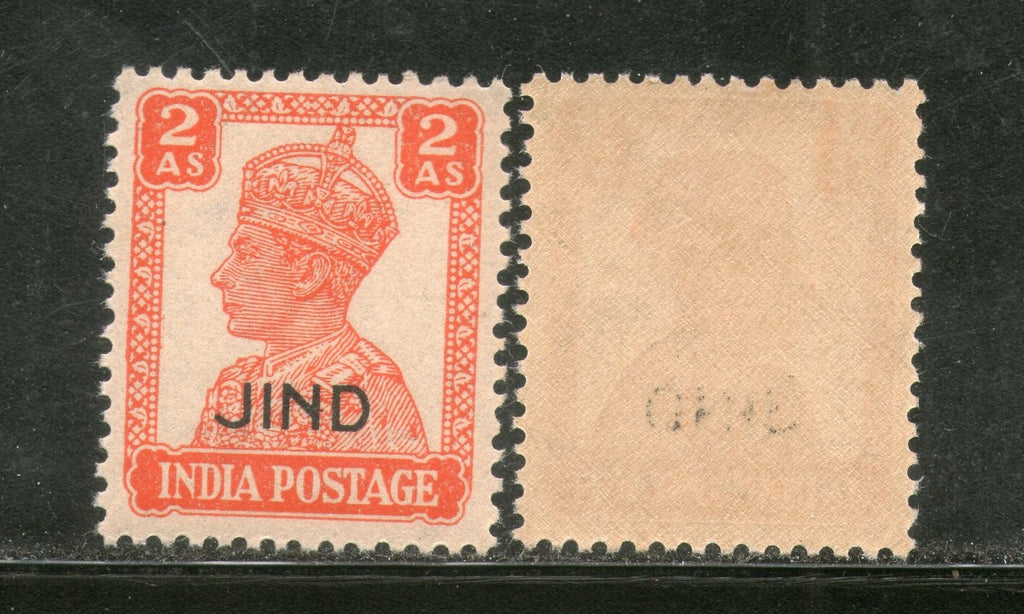 India Jind State KG VI 2As Postage Stamp SG 143 / Sc 171 MNH - Phil India Stamps