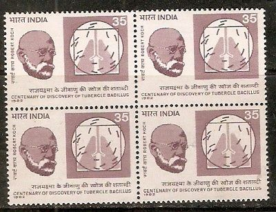 India 1982 Robert Koch Phila-888 Blk/4 MNH