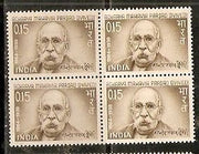 India 1966 Mahavir Prasad Dvivedi  Phila-431 BLK/4 MNH