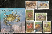 Tanzania 1994 Crabs Insect Reptiles Amphibians Sc 1295-1302 7v+M/s Cancelled