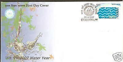 India 2007 Water Year Environment Phila-2459 FDC