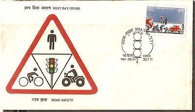 India 1991 Road Safety Traffic  Phila-1265 FDC