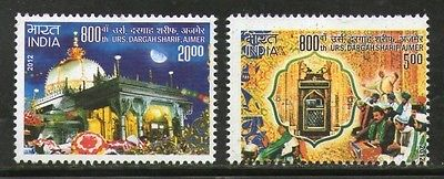 India 2012 Dargah Sharif, Ajmer Phila- 2761-62 2v MNH