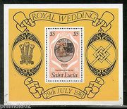 St. Lucia 1981 Lady Diana & Prince Charls Royal Wedding Sc 546 MNH M/s