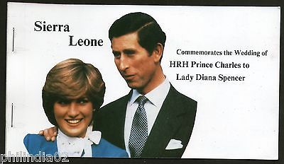 Sierra Leone 1981 Lady Diana & Prince Charls Royal Wedding Le6.00 Booklet MNH